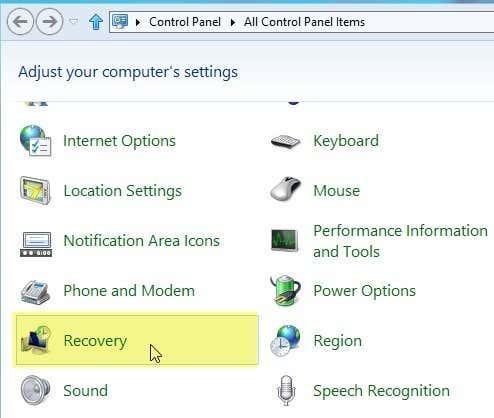 Crear USB de Arranque de Recuperación de Unidad en Windows 8/10