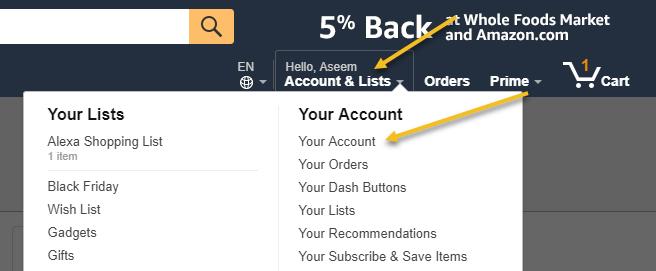 Amazon Prime Account Teilen