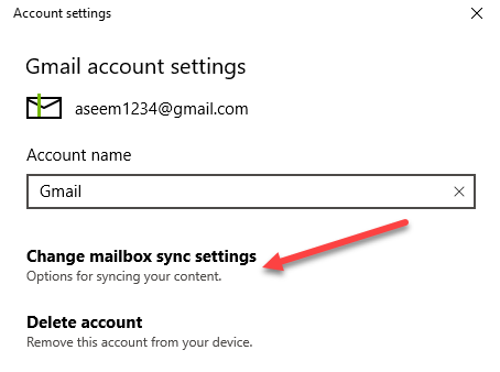 How to Setup Gmail in Windows 10