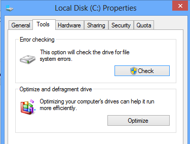 how to check c drive for errors