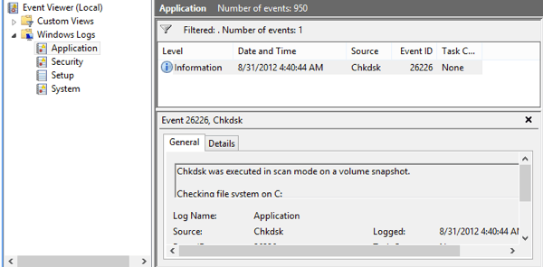 Check Disk and System Files in Windows 8/10