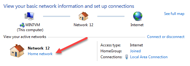 Change from Public to Private Network in Windows 7, 8 and 10