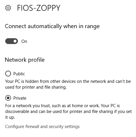 windows 10 change network type unidentified