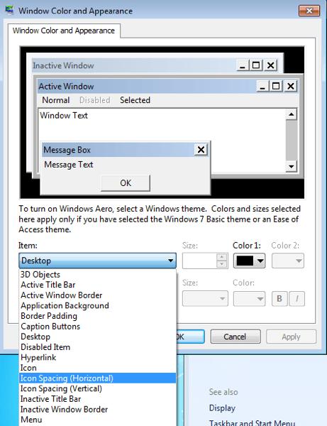 Cambiar Icono en el Escritorio de separación en Windows 10