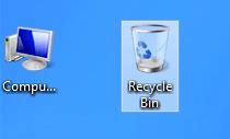 el espacio entre iconos de windows 8