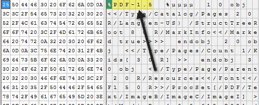 el archivo pdf editor hexadecimal