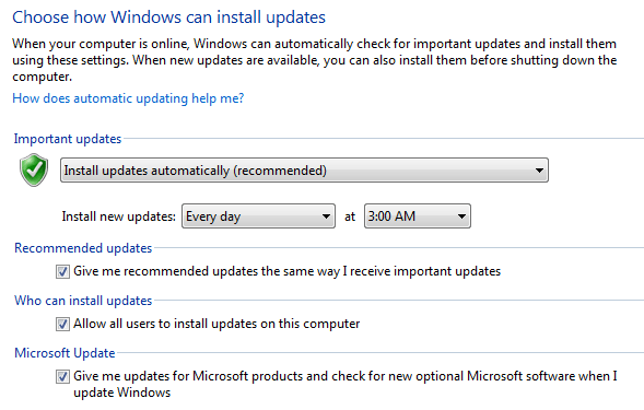 computer updates every day