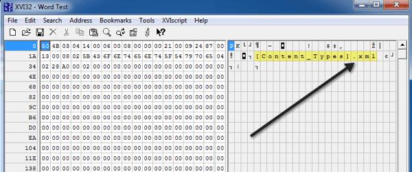 doc de word editor hexadecimal