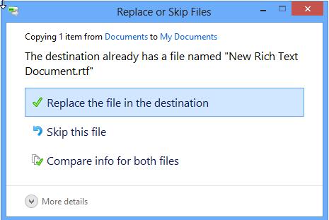 restaurar el archivo