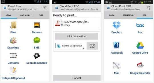 Cloud print google play