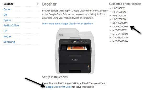 Cloud ready printers