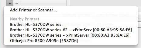 Add printers mac