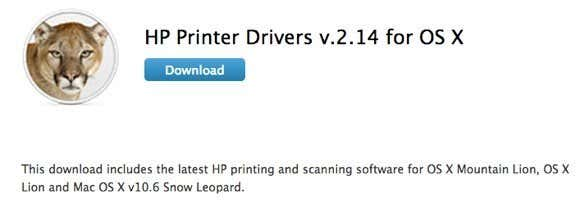 Hp printer driver mac