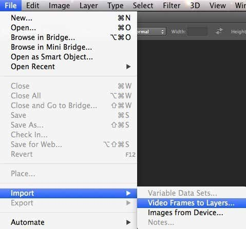 video frame to layers