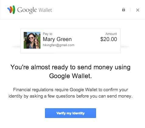 google wallet verify