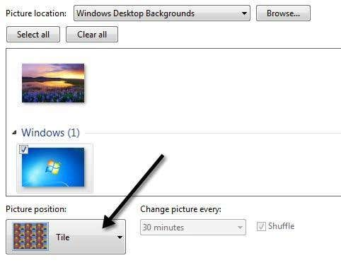Setup Different Backgrounds For Dual Monitors In Windows 7