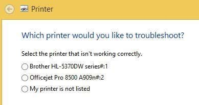 troubleshoot printer