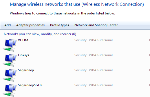 list of wireless networks