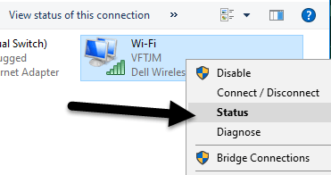 changing wifi password in windows 8