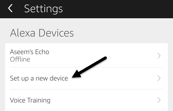 alexa app settings