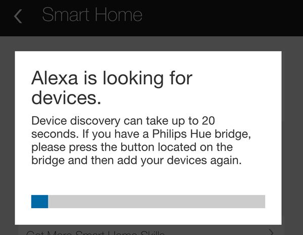 alexa discover devices