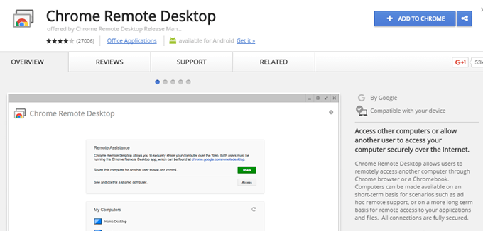 chrome remote desktop free download