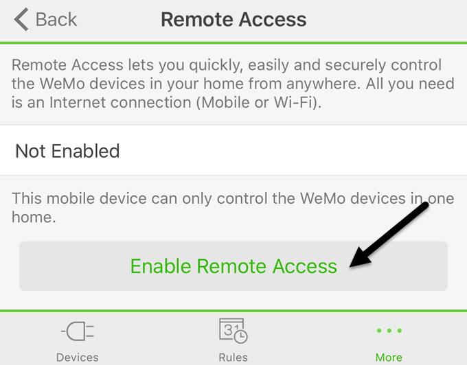 enable remote access
