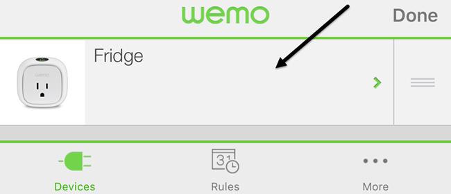 wemo edit switch
