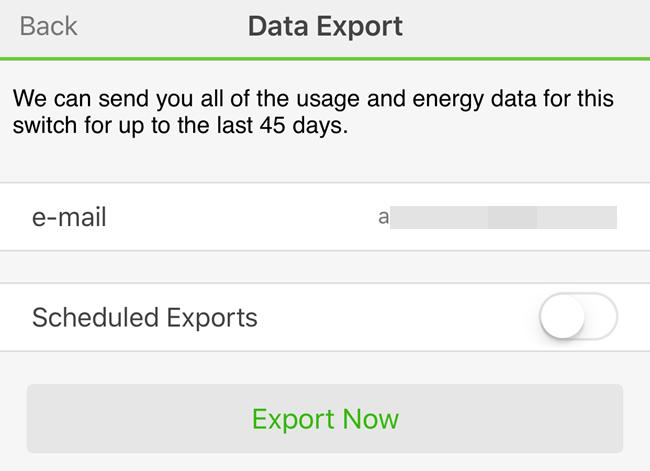 wemo export now