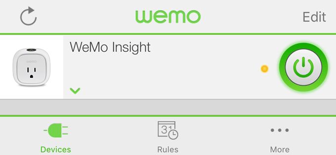 wemo iphone app