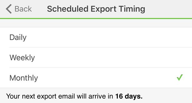wemo scheduled export
