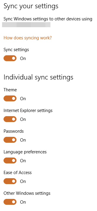 sync settings windows
