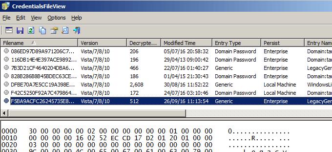 show windows 10 vpn password