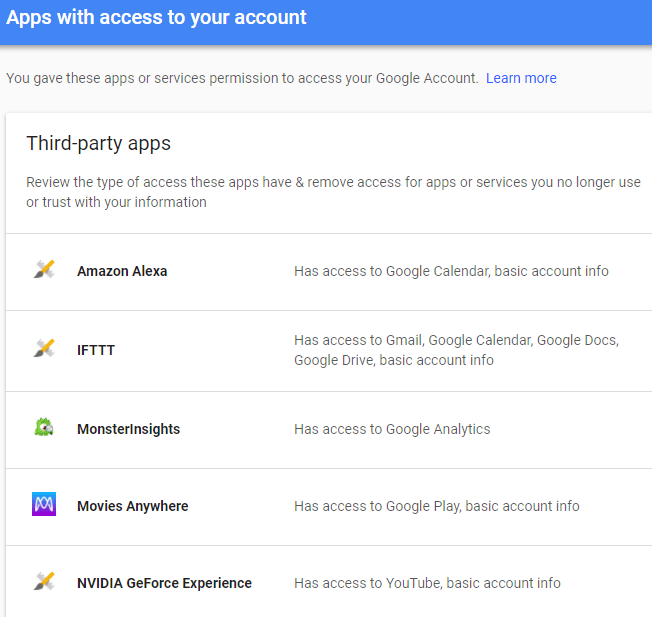 How to Check Your Google and Facebook Connected Apps