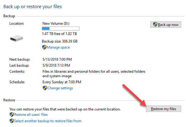 OTT Guide to Backups, System Images and Recovery in Windows 10
