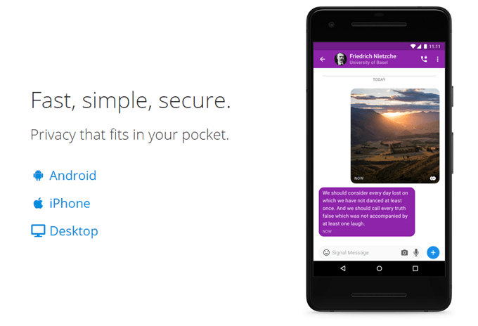 The Features Which Make Signal The Most Secure Messaging App In