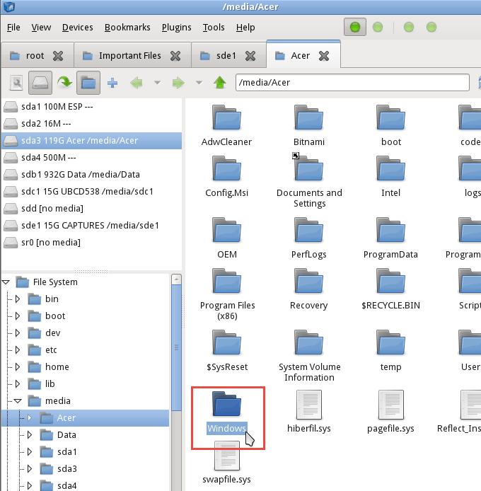 How to Retrieve Windows Files Using a Linux Live CD