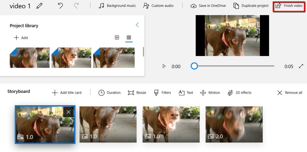 تحويل الصور إلى فيديو