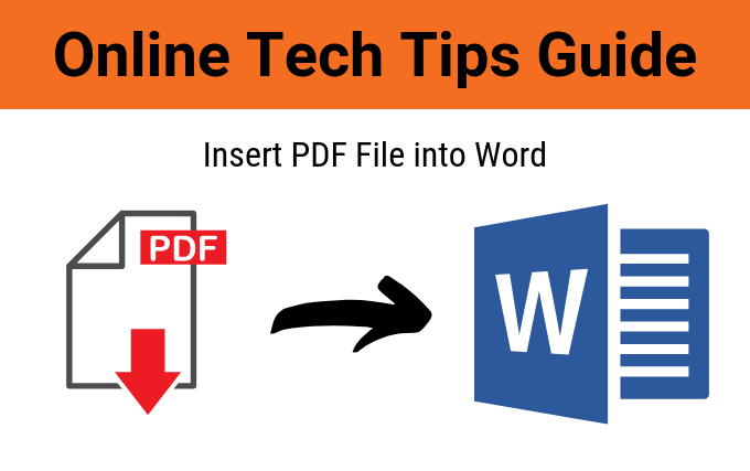 How To Make A Word Doc A Pdf >> How To Insert A Pdf File Into A Word Document