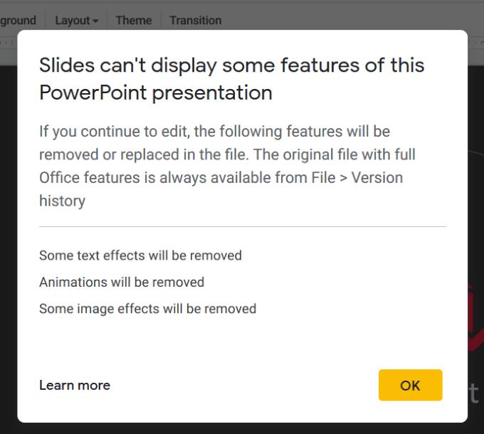 تحويل عرض PowerPoint إلى Google Slides ليعمل معها بسهولة 4