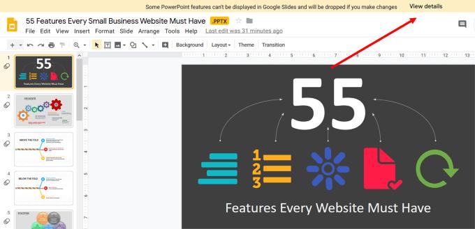 تحويل عرض PowerPoint إلى Google Slides ليعمل معها بسهولة 3