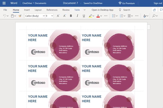 create microsoft word document online free