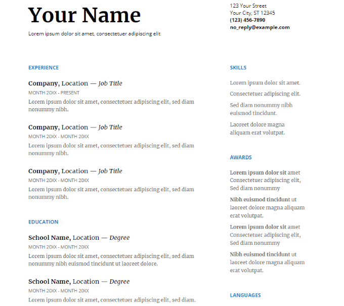 How To Use Google Docs Resume Templates