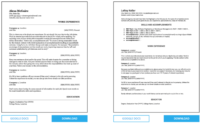 3 Sites To Find Free Google Docs Resume Templates