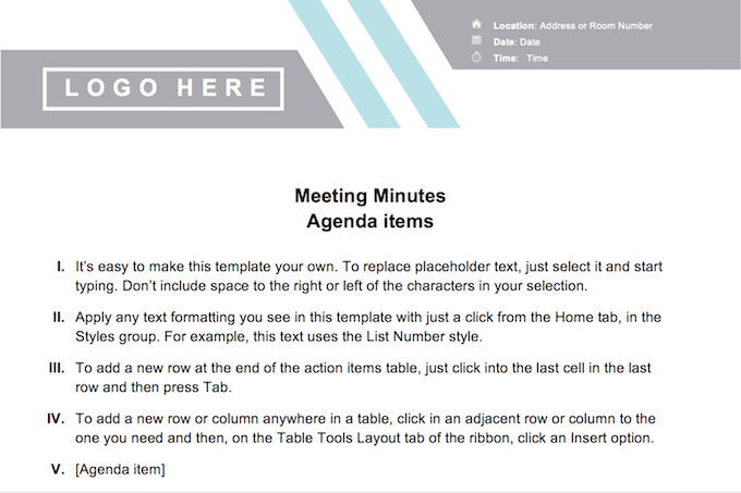 Llc Meeting Minutes Word Template from www.online-tech-tips.com