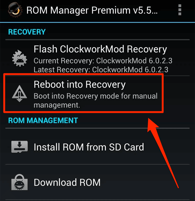 free download clockworkmod recovery for android